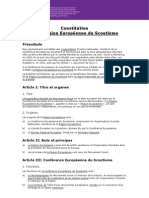 Constitution de la Région Européenne du Scoutisme - modifiée