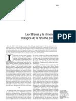 Yaffe. Strauss y la dimensión teológica de la filosofía política