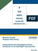 Montreal PUG - OpenEdge Architect & GUI for .Net