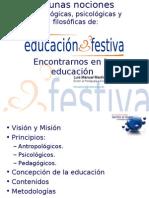 Nociones de Educación Festiva