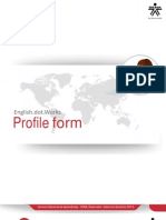 Profile Form Act 0 - Formato primera actividad del curso English Dot Works