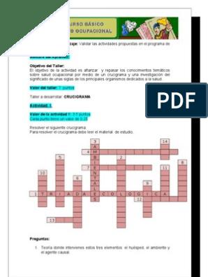 crucigrama de la abreviatura de la organización de profesionales de la salud mental estadounidense