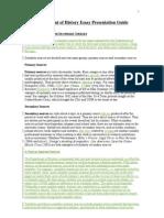 Dept of History Essay Presentation Guide(1)