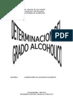 Informe de Grado Alcoholico