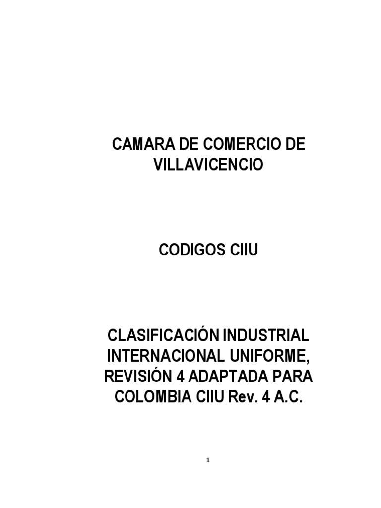 Codigos CIIU