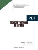 Técnicas y Métodos de Estudios
