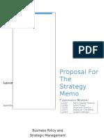 C10 Strategy Memo Proposal