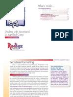 Secretarial Formatting