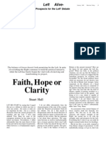 Hall S - Faith, Hope or Clarity