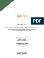 Pablo Salvador Oderech, Analisis Economico Del Derecho