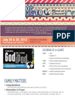 Church Bulletin for July 26 & 28, 2013