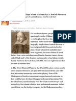 Did Amelia Bassano write Shakespeare? Eight Proofs