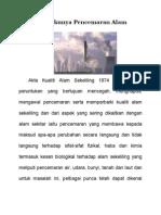Punca Berlakunya Pencemaran Alam Sekitar