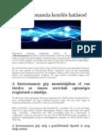 A biorezonancia kezelés hatásos