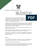 RESOLUÇÃO Nº 15 Estabelece diretrizes para licença de obra hidráulica para implantação de barragens subterrâneas nos cursos de água de domínio do Estado do Rio Grande do Norte