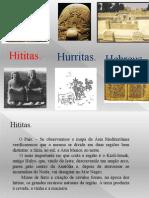Trabalho de História Antiga, Hititas, Hurritas e Hebreus.