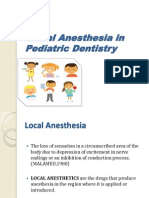 Local Anesthesia in Pediatric Dentistry