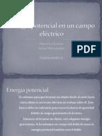 Energía potencial en un campo eléctrico