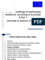 Design of Buildings for Earthquake Resistance According to Eurocode 8 - Part 1