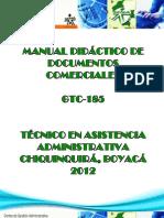 MANUAL DIDÁCTICO PARA LA ELABORACIÓN DE DOCUMENTOS COMERCIALES