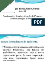 Aula 01  Cenário de Administração de Recursos Humanos