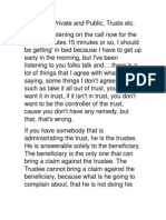 Danny on Private and Public, Trusts Etc.