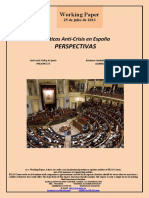 Políticas Anti-Crisis en España. PERSPECTIVAS (Es) Anti-Crisis Policy in Spain. PROSPECTS (Es) Krisiaren Aurkako Politikak Espainian. AURREIKUSPENAK (Es)