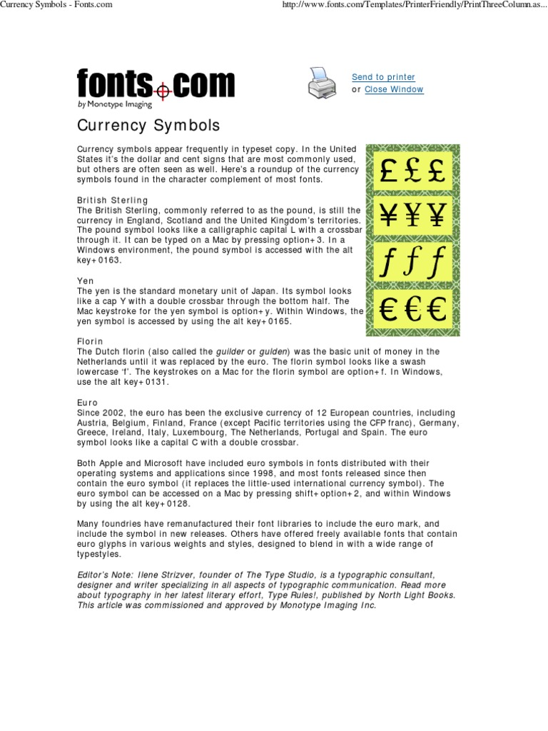 Currency symbols dutch guilder typefaces biocorpaavc