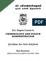 BA Criminology