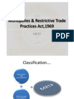 Monopolies & Restrictive Trade Practices Act,1969