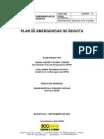 Plan Emergencias Bogota Dpae