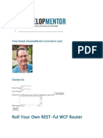 Roll Your Own REST-Ful WCF Router