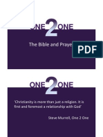5 - The Bible and Prayer