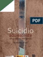 Suicidio Adolescente en Pueblos Indigenasl