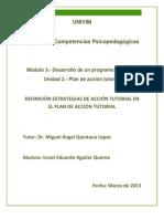 ISAGUILAR-PLAN DE ACCION TUTORIAL-DEFINICIÓN ESTRATEGIAS DE ACCIÓN TUTORIAL EN EL PLAN DE ACCIÓN TUTORIAL