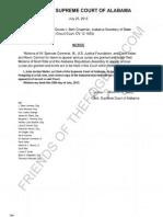 2013-07-25 SCOAL - McInnish v Chapman - Order Granting Leave to Amici
