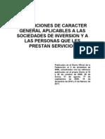 Disposiciones de carácter general aplicables a las sociedades de inversión y a las personas que les presten servicios