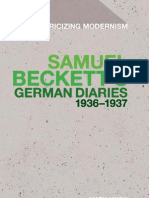 Mark Nixon Samuel Becketts German Diaries 1936-1937 Historicizing Modernism 2011