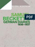 Mark Nixon Samuel Becketts German Diaries 1936-1937 Historicizing Modernism 2011