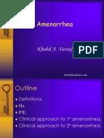 Amenorrhea (1)
