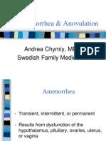 Amenorrhea&Anovulation