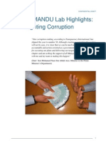 PEMANDU Lab Highlights - Corruption