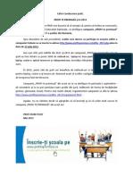 Invitatie Adresata Scolilor - Inscriere