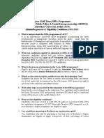 MBA Admissions 2013 FAQ