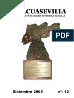 Boletín Asociación Acuariófila Sevillana - Acuasevilla No 12