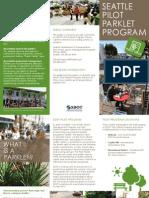Parklet Brochure -- Seattle Department of Transportation