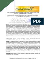 Avaliação de Projeto para Implantação de um Sistema de VOIP- Um C