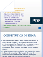 INDIAN CONSTITUTION & THEIR ACTS