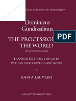 DOMINICUS_GUNDISSALINUS__The_Procession_of_the_World__Mediaeval_Philosophical_Texts_in_Translation__No__39