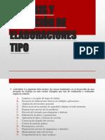 ANÁLISIS Y SELECCIÓN DE ELABORACIONES TIPO_ PPT